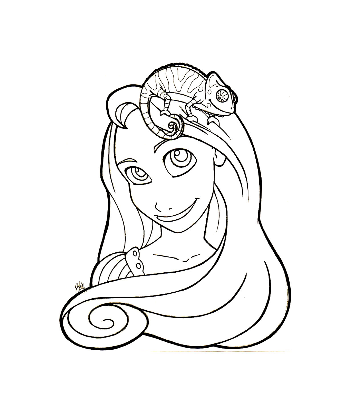 Raiponce pascal coloriage raiponce coloriages pour - Coloriages raiponce ...