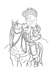 Coloriage flynn cheval maximus