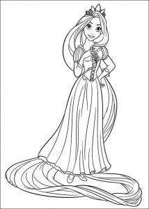 coloriage-raiponce-disney-1 free to print