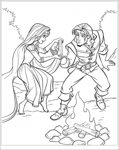 coloriage-raiponce-disney-4 free to print