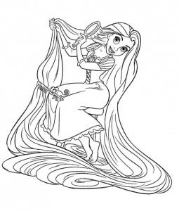 coloriage-raiponce-disney-5 free to print