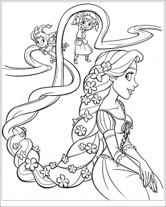 coloriage-raiponce-disney-6 free to print