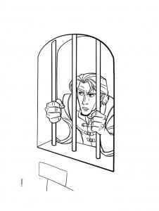 Coloriage raiponce flynn prison