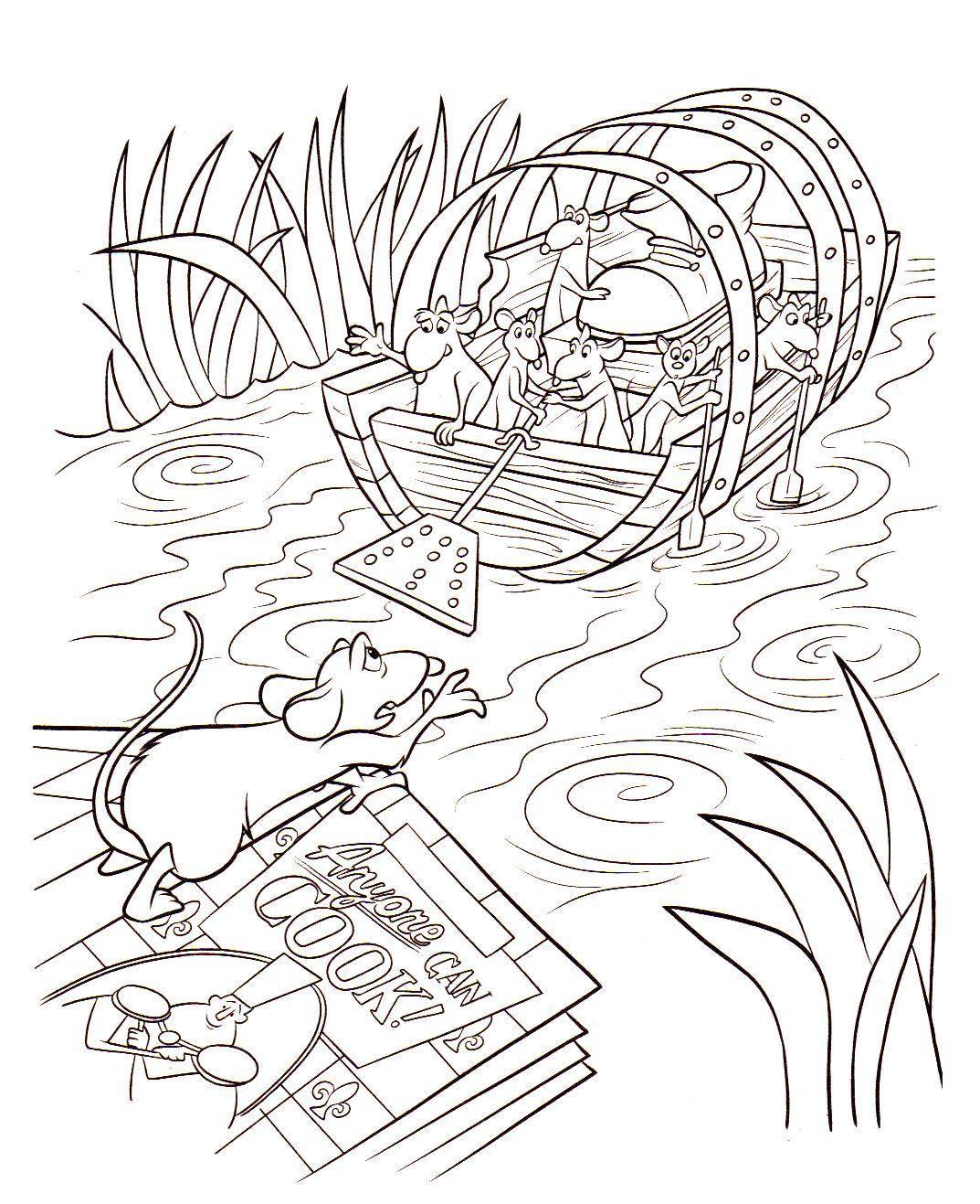 Ratatouille 1 coloriage ratatouille coloriages pour - Coloriage de ratatouille ...