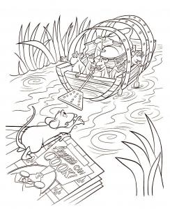 Coloriage de Ratatouille à imprimer