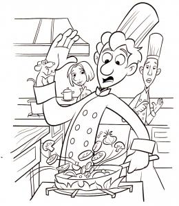Dessin de Ratatouille gratuit à télécharger et colorier