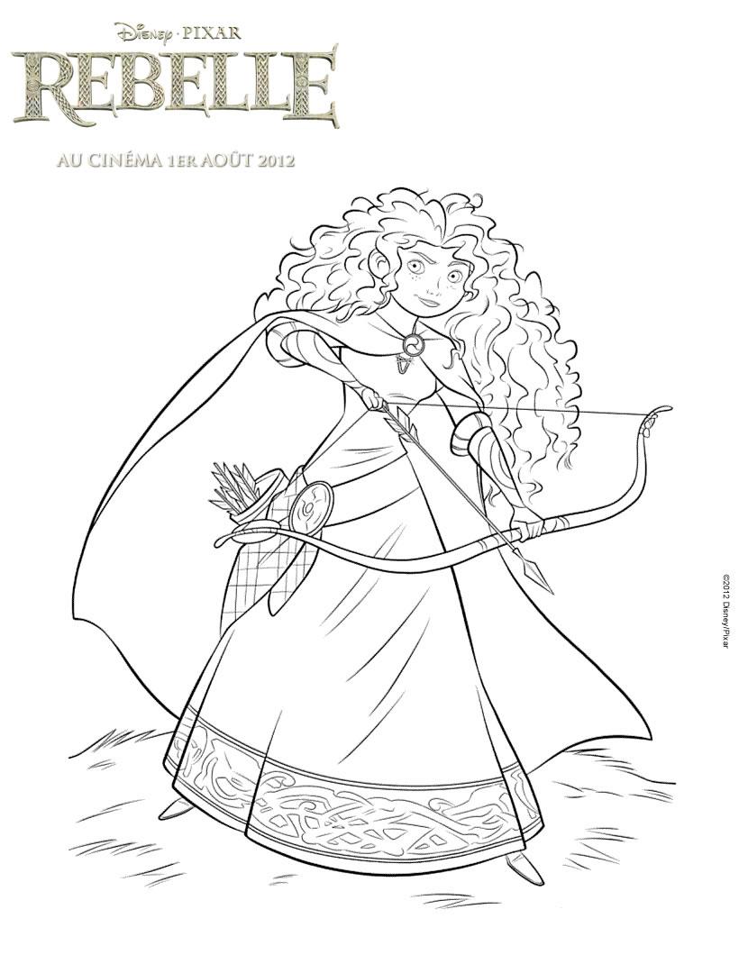 Rebelle 1 coloriage rebelle brave coloriages pour - Coloriage de princesse disney ...