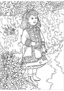 Coloriage de Renoir à colorier pour enfants