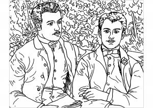 Image de Renoir à télécharger et colorier