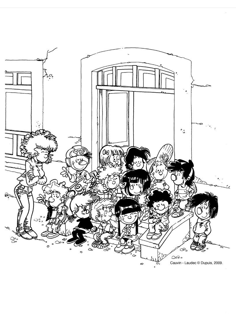 Coloriage Rentree Des Classes Coloriages Pour Enfants