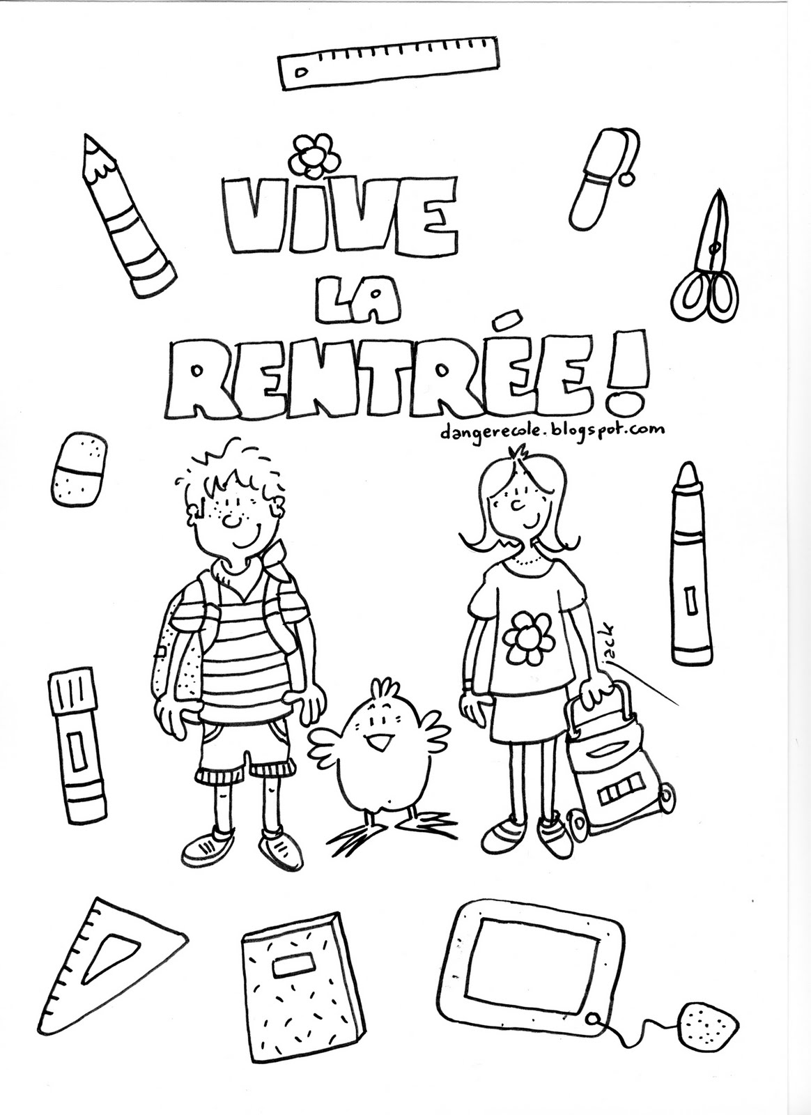Sehr Rentree des classes 9 | Coloriage Rentrée des classes - Coloriages  RA56