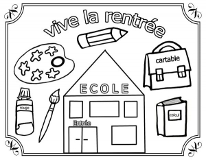 Coloriage rentree des classes 3