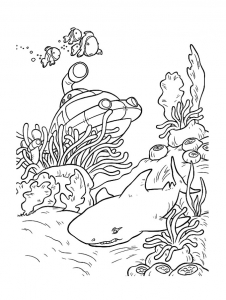 coloriage-requin-2 free to print