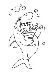 coloriage-requin-8 free to print