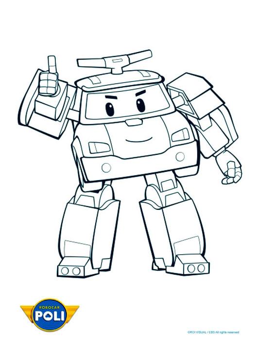 Robocar poli 1 coloriage robocar poli coloriages pour - Dessin anime robocar poli ...