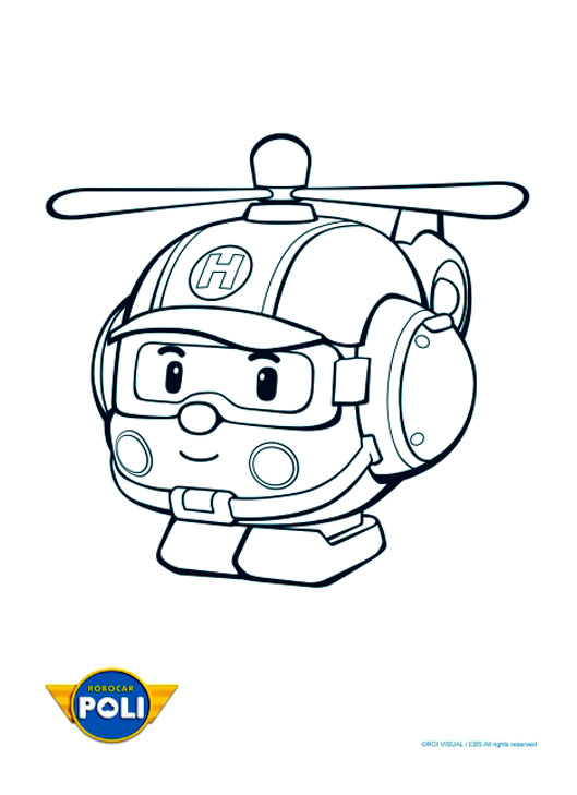 Robocar poli 3 coloriage robocar poli coloriages pour for Robocar poli coloring pages