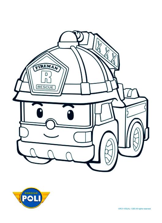 Le camion de pompier Roy