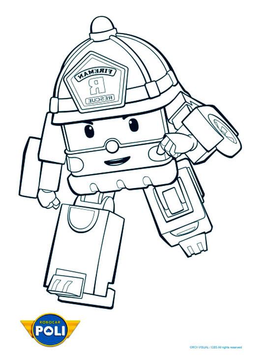 Robocar poli 6 coloriage robocar poli coloriages pour enfants - Dessin anime de robocar poli ...
