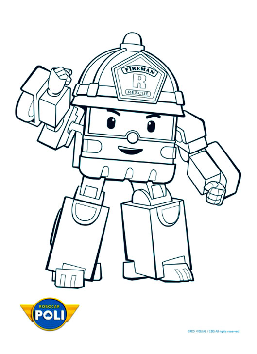 Coloriage de Robocar Poli à imprimer - Coloriage Robocar Poli - Coloriages pour enfants