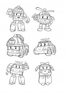 Coloriage de Robocar Poli pour enfants