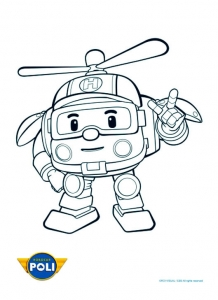 Dessin de Robocar Poli gratuit à télécharger et colorier