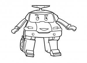 Coloriage de Robocar Poli à colorier pour enfants