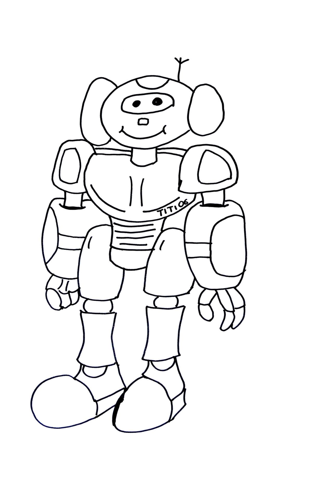 Robot coloriage de robots coloriages pour enfants - Enfants coloriage ...