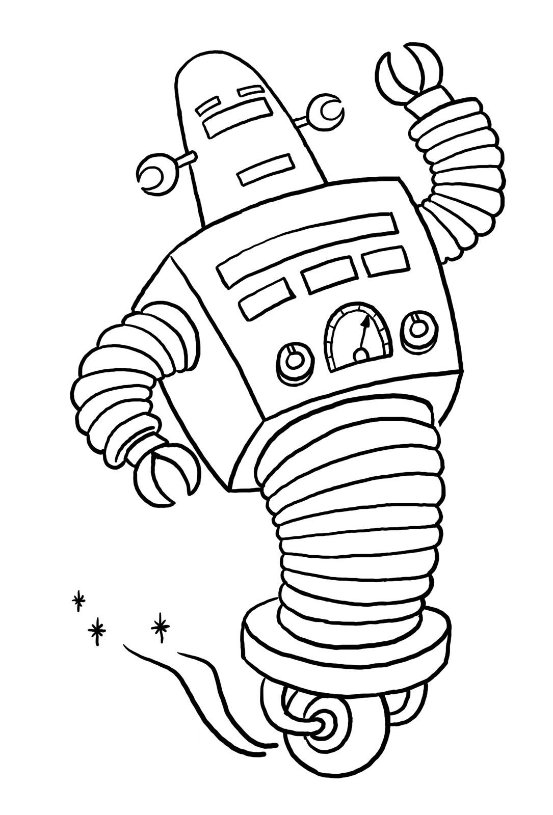 Robots 2 coloriage de robots coloriages pour enfants - Imprimer dessin enfant ...