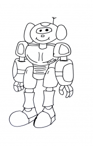 coloriage-robot free to print