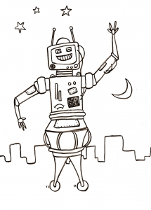 coloriage-robots-1 free to print