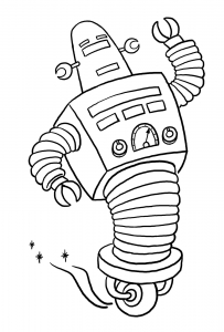 coloriage-robots-2 free to print