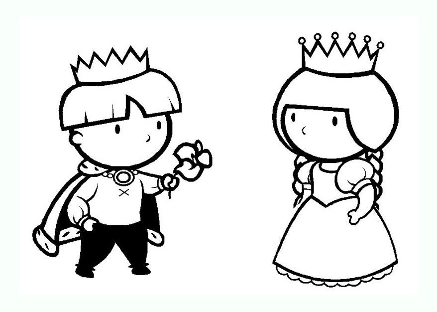 Coloriage Princesse Qui Danse Avec Prince.Coloriage De Rois Et Reines Coloriages Pour Enfants