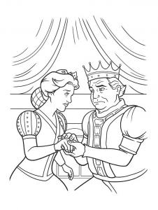 Coloriage du roi et de la reine de Shrek à télécharger