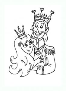 Coloriage de roi et reine à télécharger