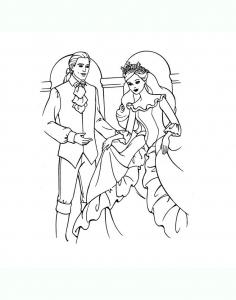 Image de roi et reine à imprimer et colorier