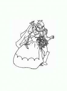 Image de roi et reine à télécharger et colorier