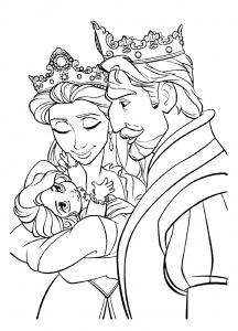 Coloriage de rois et reines coloriages pour enfants - Coloriage a imprimer de raiponce ...