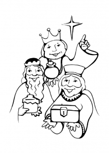 coloriage-rois-mages-2 free to print