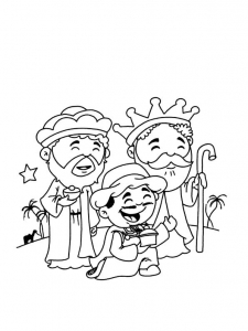 Coloriage rois mages 3