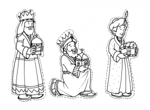 coloriage-rois-mages-9 free to print