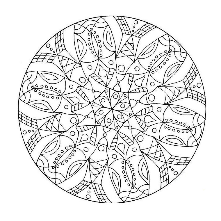 coloriage rosace 1 free to print