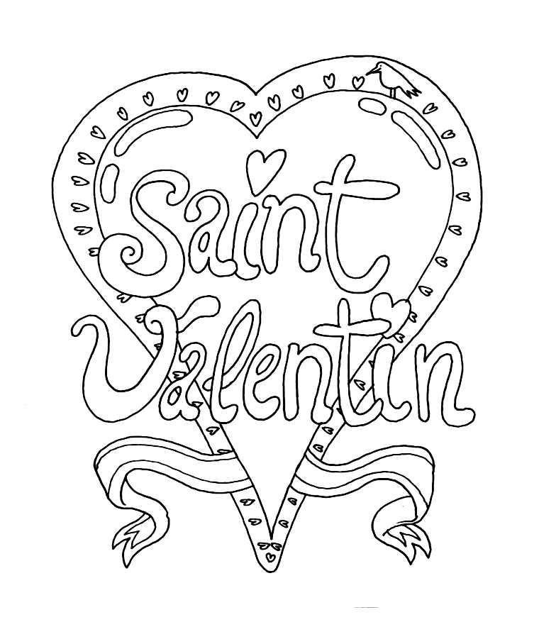 Saint valentin 1 coloriage de la saint valentin coloriages pour enfants - Coeur de st valentin a imprimer ...