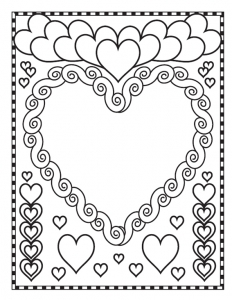 Coloriage de Saint Valentin à telecharger gratuitement