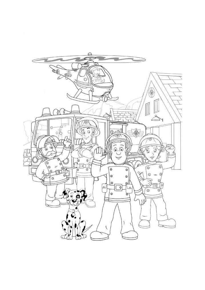 4134 Coloriage De Sam Le Pompier Coloriages Pour Enfants