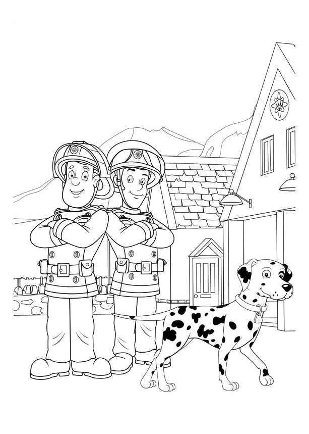 4142 Coloriage De Sam Le Pompier Coloriages Pour Enfants