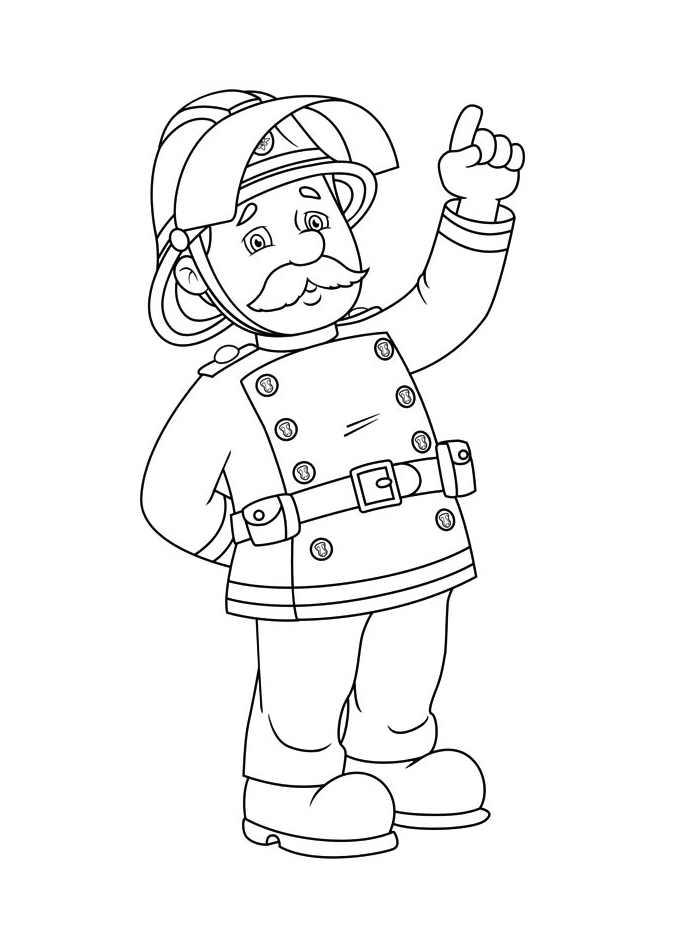 Sam Le Pompier 11986 Coloriage De Sam Le Pompier Coloriages Pour