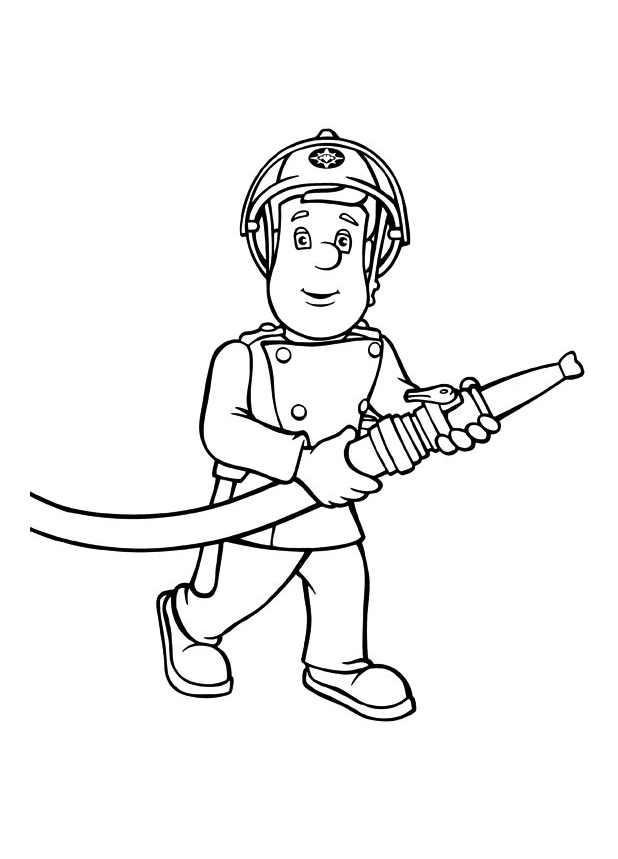 Sam le pompier 9564 coloriage de sam le pompier coloriages pour enfants - Coloriage de sam le pompier a imprimer ...