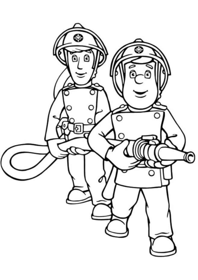 Sam le pompier 9567 coloriage de sam le pompier coloriages pour enfants - Coloriages pompiers ...