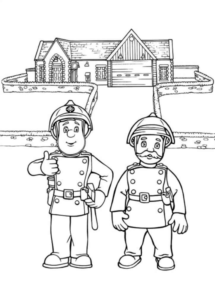 Sam le pompier 9572 coloriage de sam le pompier coloriages pour enfants - Dessin pompier a imprimer ...