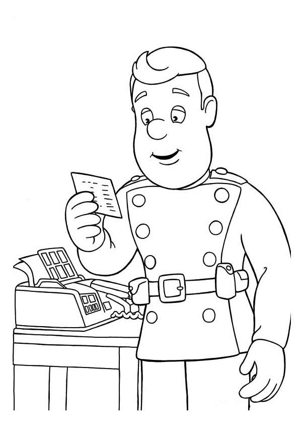 Coloriage Facile Sam Le Pompier.Sam Le Pompier 9586 Coloriage De Sam Le Pompier Coloriages Pour
